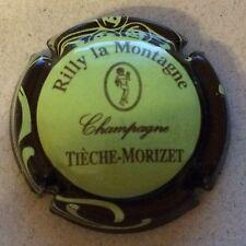 Capsule de champagne TIECHE-MORIZET (11b. vert pâle ctr marron)