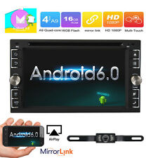 """Android 6.0 Quad Core 3G WiFi 6.2""""Double 2DIN Car Radio Stereo DVD Player GPS BT"""