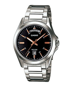 Casio New Original MTP-1370D-1A2 Analog Mens Watch Stainless Steel WR50M MTP1370