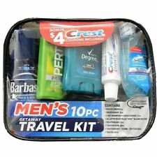 10-PIECE MEN'S GETAWAY TRAVEL KIT Shave Cream Deodorant Shampoo Razor Toothbrush