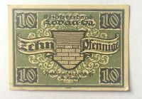 Notgeld Löbau 1921 10  Pfennige absolut Echt !!!
