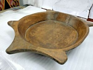 INDIAN VINTAGE HANDMADE WOODEN BOWL Pranth Collectible