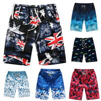 Men Multi-Color Boardshorts Surf Beachwear Shorts Swim Sports Trunks Pants #@