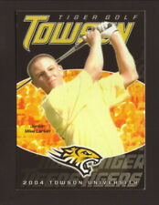Towson Tigers--2004 Golf Pocket Schedule--Geico