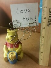 Winnie the Pooh Office Desk Note/Picture Holder Honey Pot Disney Love Gift Frame