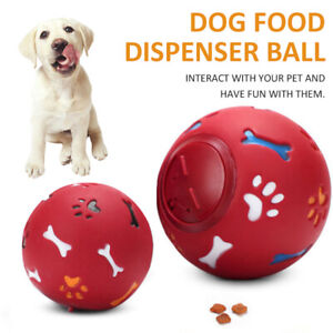 New Pet Dog Puzzle Food Dispenser Tough-Treat Ball Interactive Puppy Play Toy
