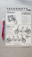 Tecnomoto produzione ciclocarrozzelle tandem bici Florida depliant brochure