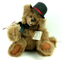 "Kimbearlys Originals Arnie 16""  Brown Resin Face Teddy Bear 1997 Limited 198/300"