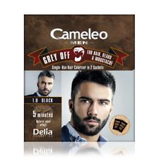 DELIA Cameleo Uomo Grigio Off Colorizer per Capelli, Barba Baffi 1.0 Nero 2X15ML