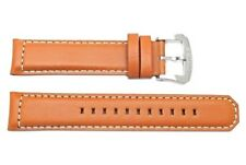 Original Seiko Tan Genuine Smooth Leather 21mm Watch Band Strap
