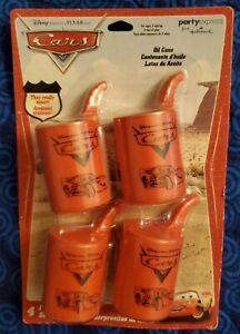 CARS OIL CAN WATER SQUIRTERS (4) ~ Birthday Party Supplies Favors Toys McQueen