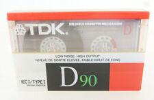 TDK D90 IEC I Type Blank Cassette Type Normal Position Dynamic 1990 Normal Bias