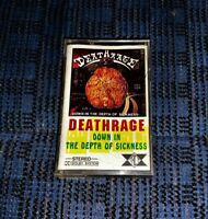 Thrash Metal DEATHRAGE Down in The Depths of Sickness VG Cassette Tape MC