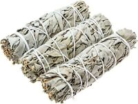 3X CALI WHITE SAGE SMUDGE STICKS AND FREE CRYSTAL HOUSE CLEARING ENERGY HEALING