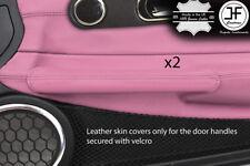 Rose Cuir Véritable 2X Poignée De Porte Couvre Pour Chrysler Crossfire 03-08 Style 2