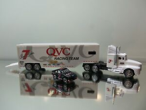"""1990's Racing Champions Tractor Trailer - QVC Racing Tampos - Mint Loose 7"""""""