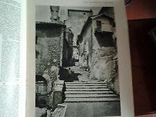 L'illustrazione italiana 1928 Lazio pittoresco  PALESTRINA VECCHIA