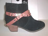 Dolce Vita DV Size 7 M Jacy Black Suede Ankle Boots New Womens Shoes