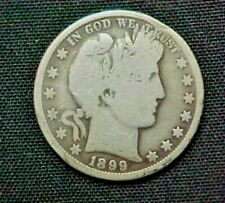 1899-O Barber 90% Silver Half Dollar circulated condition