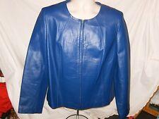 BLUE LEATHER Newport News Jacket Size 18