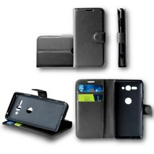 pour Motorola Moto G6 JOUER / E5 Portefeuille de poche noir étui coque housse