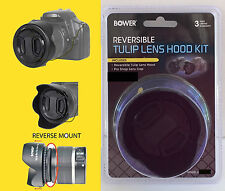 REVERSIBLE FLOWER TULIP HOOD+LENS CAP+HOLDER to CAMERA PANASONIC DMC-FZ80 BOWER