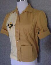 Deadstock 1950s Nat Nast Rayon Tiki Womens Bowling Shirts / Viva Las Vegas