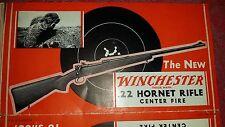 VINTAGE Orig WINCHESTER MODEL 54 22 hornet rifle BROCHURE POSTER ADVERTISEMENT 3