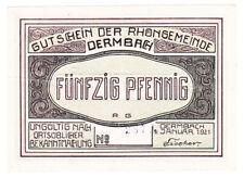 Dermbach 50 Pf. 01.01.1921 ohne Wz. mit Serie A. Grab. 264.3 b Erh. III+