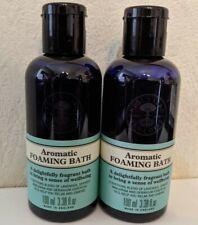 Neal's Yard Remedies Organic Aromatic Foaming Bath 100ml x 2 BBE 01/21 and 04/21