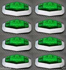 8x 12V LED Lateral Verde Bisel cromado luces de marcaje camión camión bus