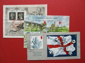 SGMS1444, SGMS1501 & SGMS2292 1989 1990 & 2002 3 x Commemorative Mini Sheets FDI