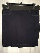 Armani Exchange Women's Skirt Blue Stretch Straight Skirt SIze 8
