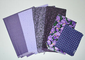 Vintage Small Purple Print Cotton Fabric 5 Yards