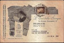 STORIA POSTALE REGNO-L'ECO DELLA STAMPA- Busta pubblicitaria-10 c.Imp. - 34 SP