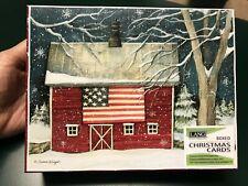 """Susan Winget """"Patriotic Holiday"""" Box Of 18 Christmas Cards & Envelopes Lang New"""