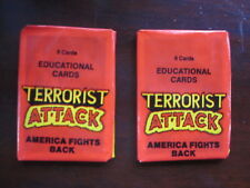 2 Wax Packs 1987 Terrorist Attack America Fights Back Educational Cards Sealed