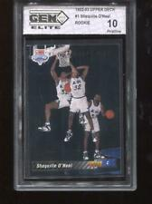 Shaquille O'Neal RC 1992-93 Upper Deck #1 HOF Rookie GEM Elite 10 Pristine