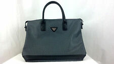 French West Indies Gray and Black 19 X 14 X 4 Tote Bag Purse GUC