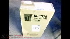 RITTAL KL 1538 TERMINAL BOX ENCLOSURE 600MM X 300MM X 120MM, NEW #183124