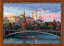 Moscow Scene Russia Counted Cross Stitch Kit Riolis
