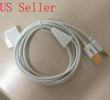30pin Dock To 3.5mm Car AUX Audio USB charger Cable For iPhone 3G 3GS 4 4S iPod