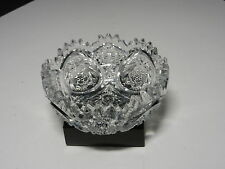 "Jefferson Krys-Tol Iverna Berry Bowl Clear Crystal 4 1/2"" T ca1905-1919"