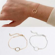 Chic Style Minimalism Circle Ring Chain Geometric Women Bracelet Jewelry New