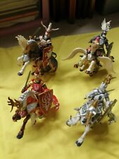 4 x Mounted Papo Knights