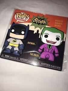 New Funko DC Batman & Joker Exclusive Magnet 2-Pack Cesar Romero Adam West
