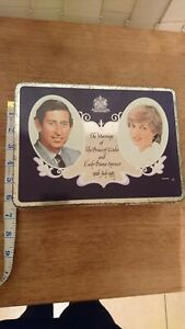 Vintage Commemorative Tin Royal Wedding Princess Diana Cadburys milk tray