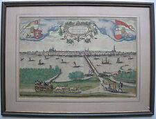 Kampen Overijssel Niederlande altkolor Orig Kupferstich Braun Hogenberg 1581