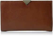 Vince Camuto NWT $118 Zinia Wallet Brandy Brown Zip Around-Phone-Section Clutch