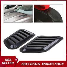 Power Car Decorative Air Flow Fender Intake Hood Scoop Vent Bonnet Cover 2PACK
